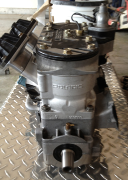 rebuilt snowmobile engine